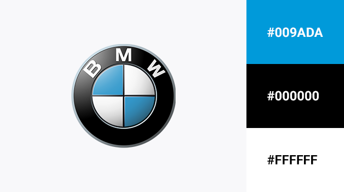 blue black and white logo bmw