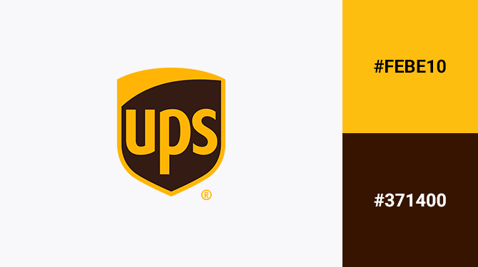 brown and yellow logo ups