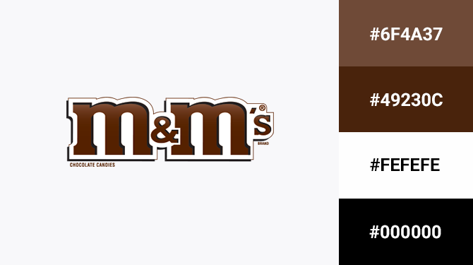 brown logo color m&ms