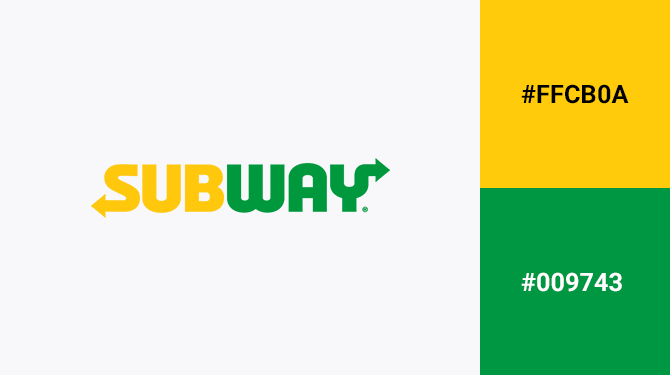green and yellow logo subway