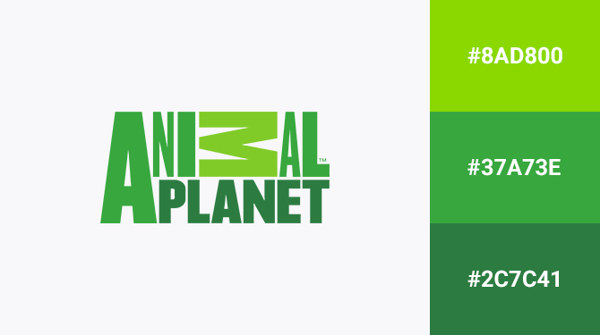 green logo animal planet