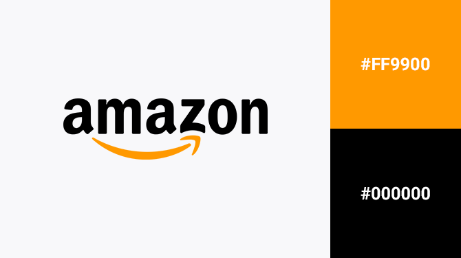 orange and black logo amazon