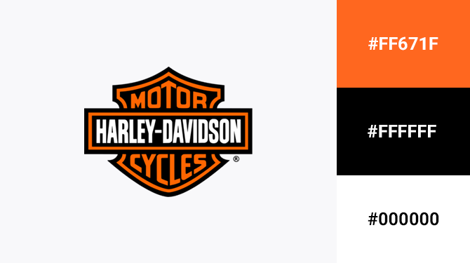 orange and black logo harley davidson