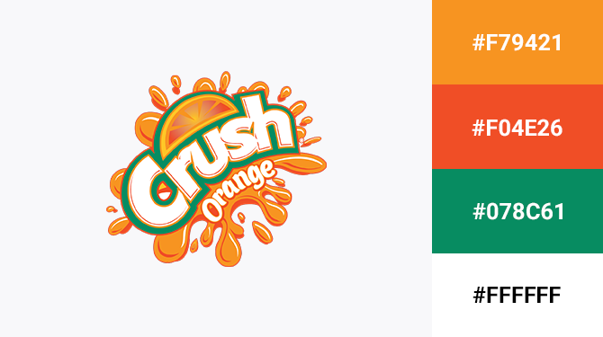 orange and green logo crush orange