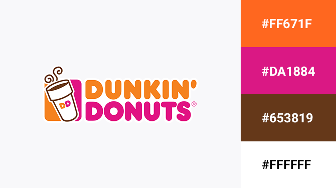 pink and orange logo dunkin donuts