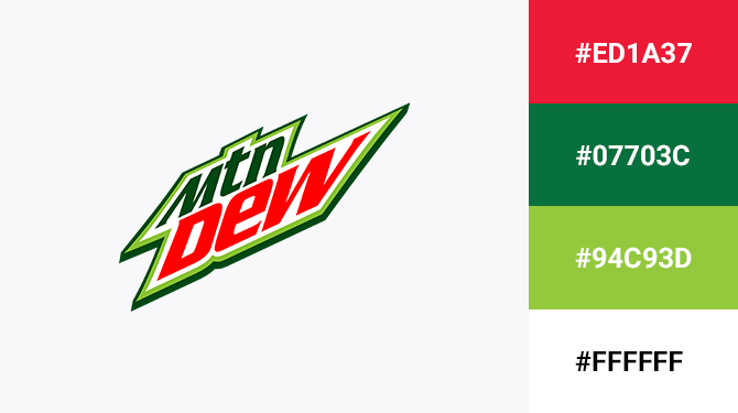 red and green logo mountain dew