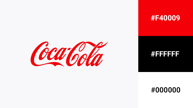 red and white logo coca cola