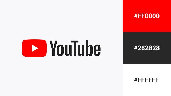 red black and white logo youtube