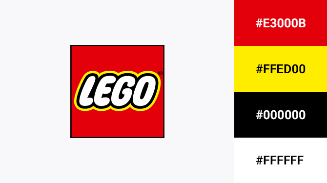 red black and yellow logo lego
