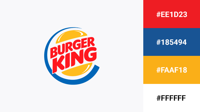 red yellow and blue logo burger king
