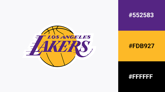 yellow and purple logo los angeles lakers