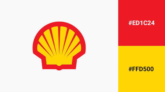 yellow and red logo shell